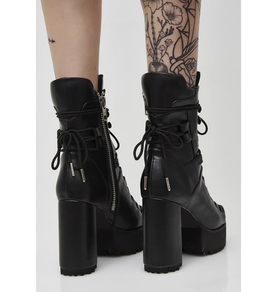 Poster Grl Last Standing Lace-Up Boots