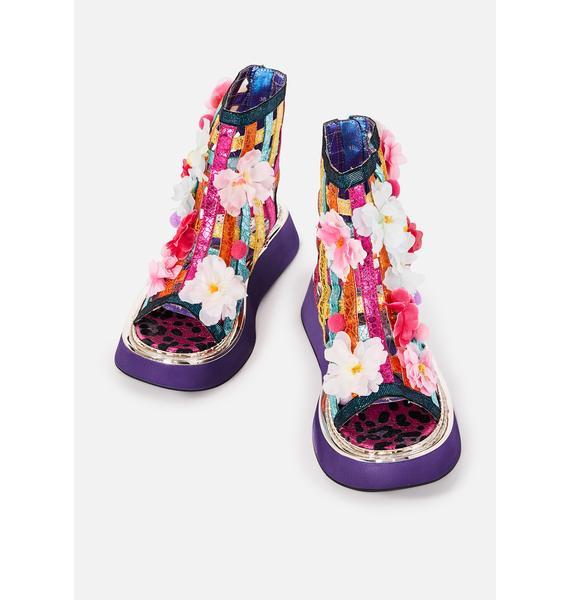 Irregular Choice On The Grapevine Flower Sandals
