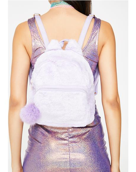 Lavender Stroke Of Genius Mini Backpack