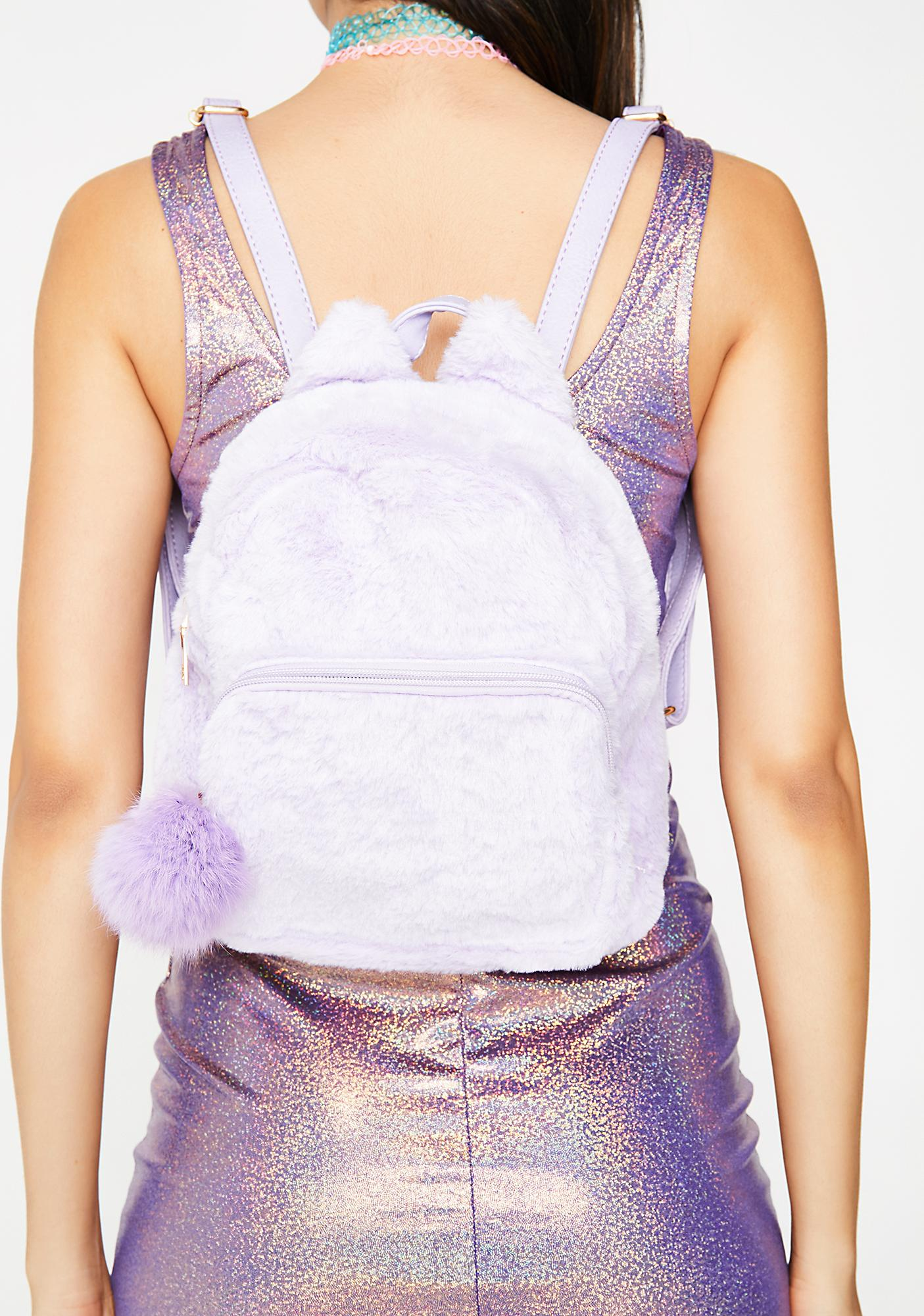 Lavender Stroke Of Genius Mini Backpack