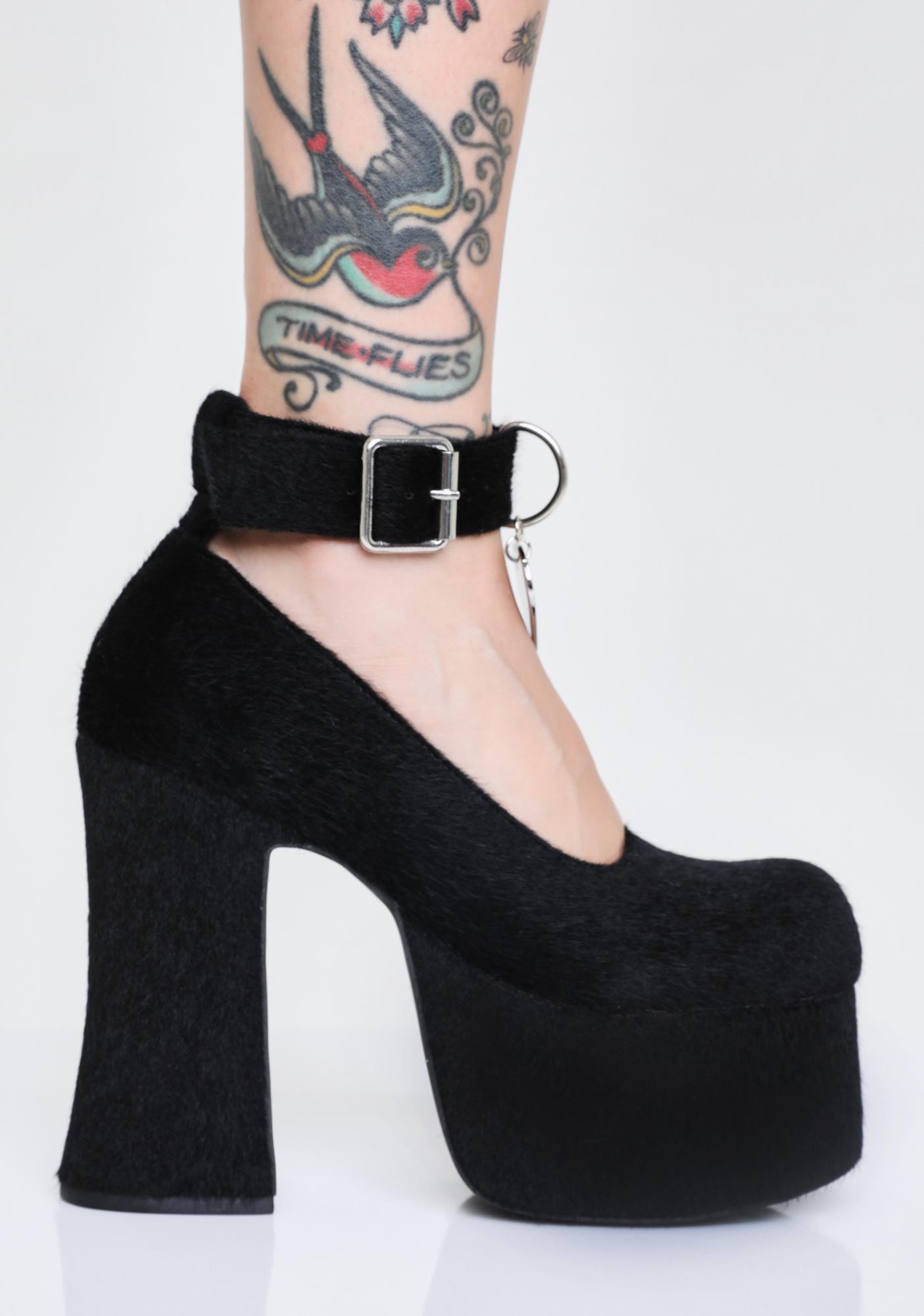 Sugar Thrillz Feline Good Platform Heels