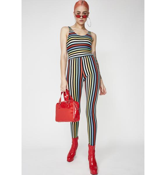 Motel Stripe Unitard