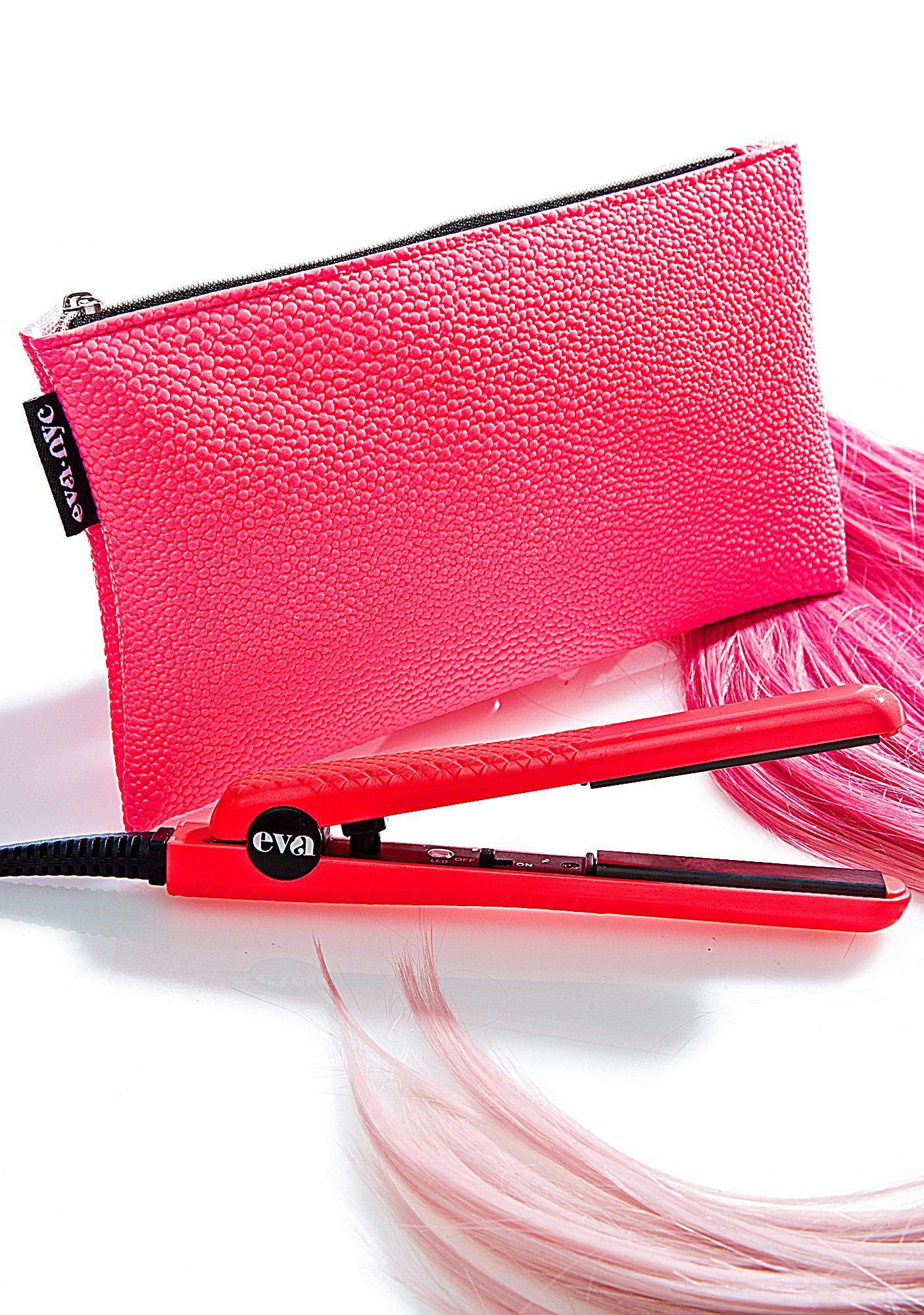 Eva NYC Mini Pink Travel Styling Iron