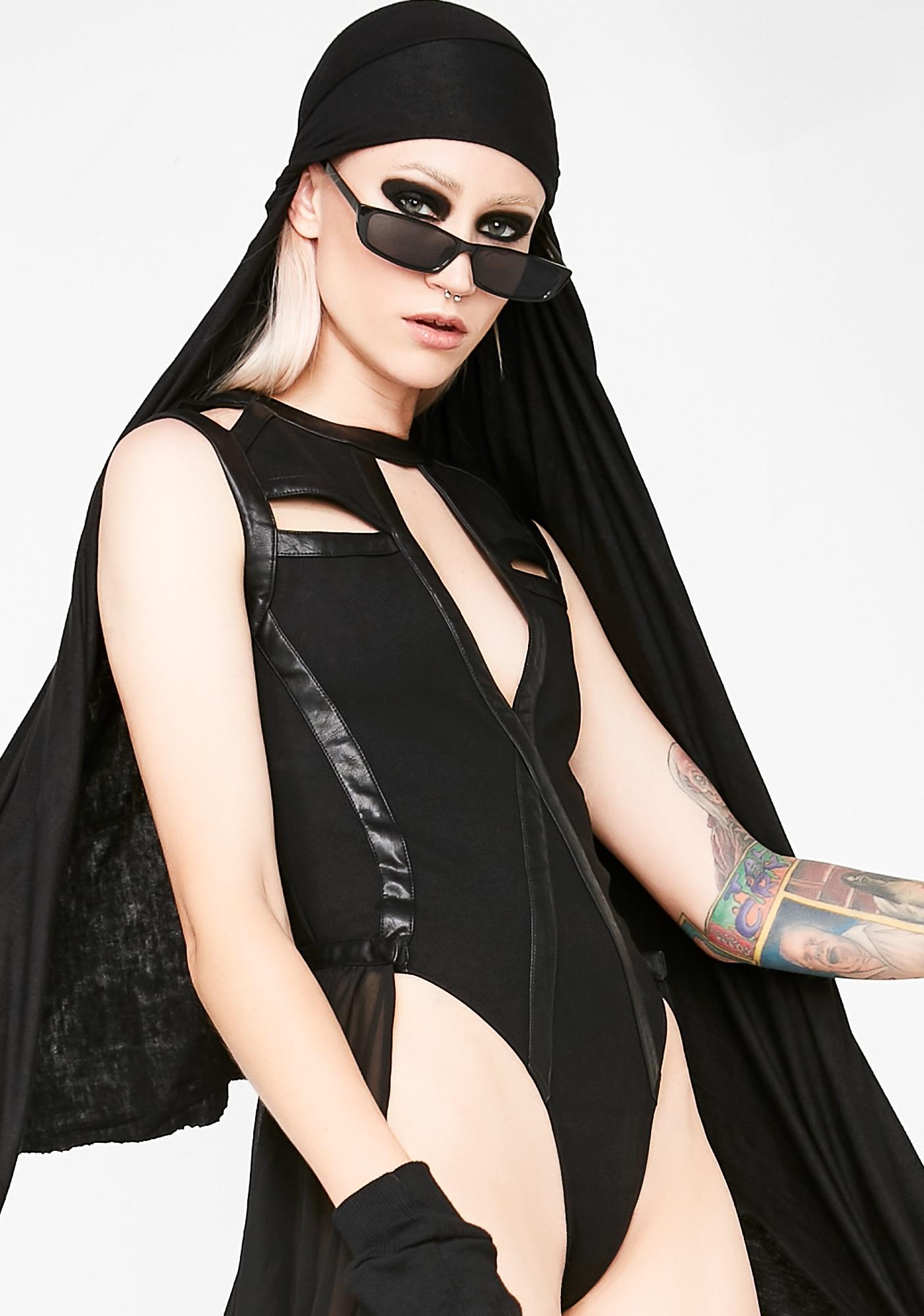 Club Exx Queen Of The Underworld Bodysuit Train Set