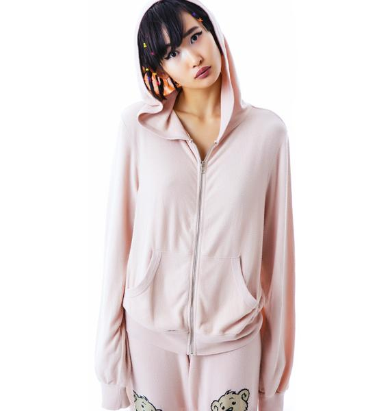 Wildfox Couture Teddy Malibu Zip Up
