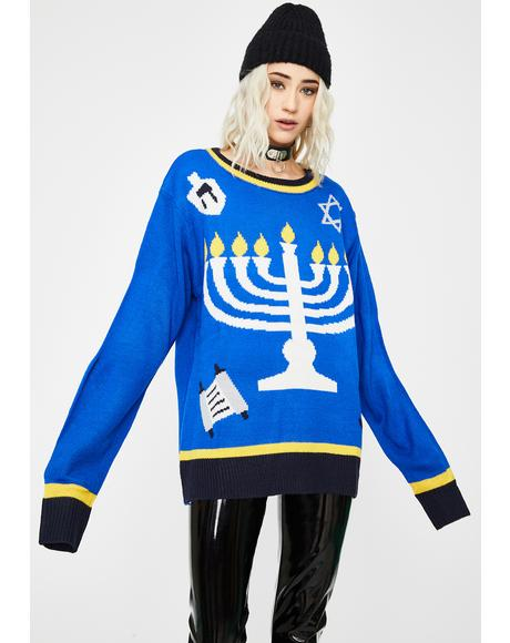 Outrageous Hanukkah Christmas Sweater