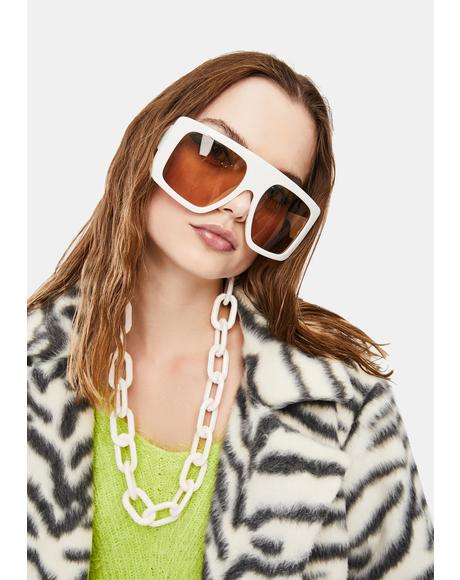 Icy Lap Of Luxury Oversized Sunglasses