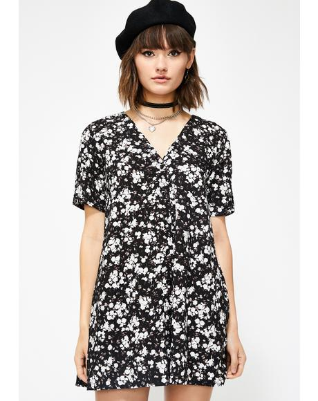 Midnight Floral Crosena Dress