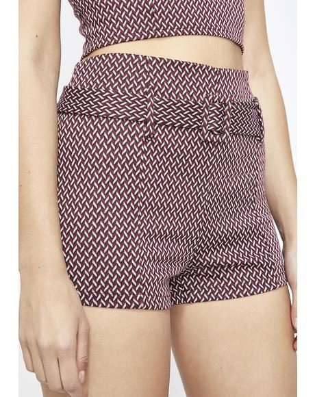 Girl'z Nite Chevron Shorts