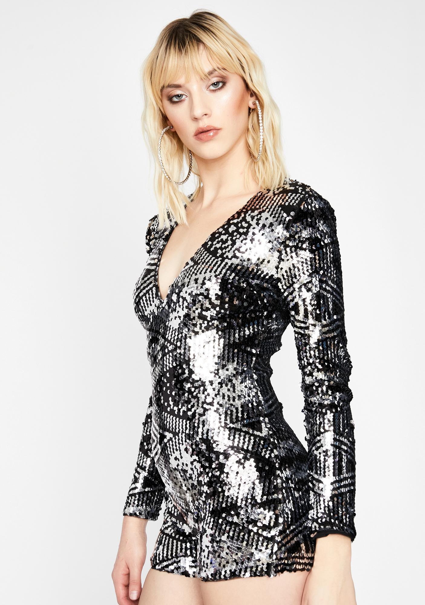 Dancefloor Diva Glitter Romper
