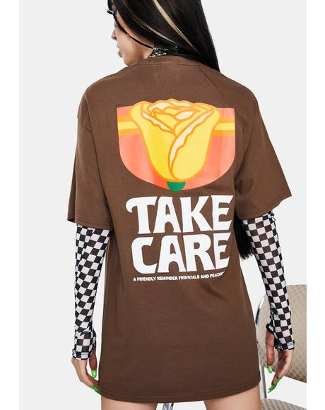 Take Care Rose Graphic Tee