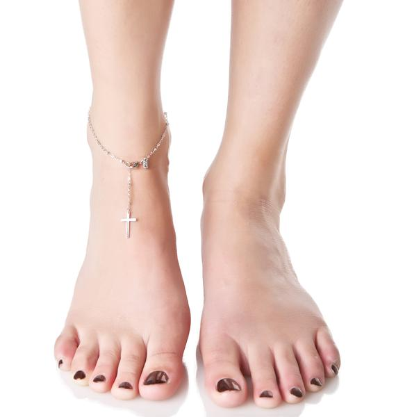 Vanessa Mooney Cross My Heart Anklet
