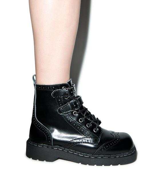T.U.K. Brogue 2-Buckle Combat Boots