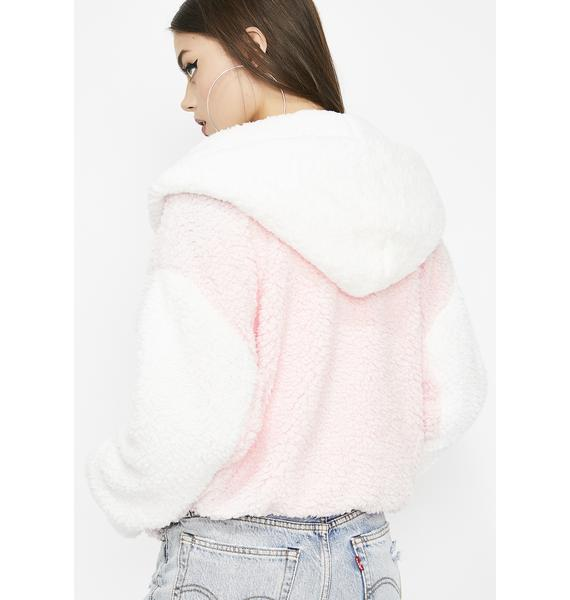 Angel Baby Fuzzy Jacket