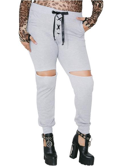 No Mercy Distressed Joggers
