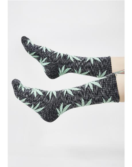Dark Melange Plantlife Socks