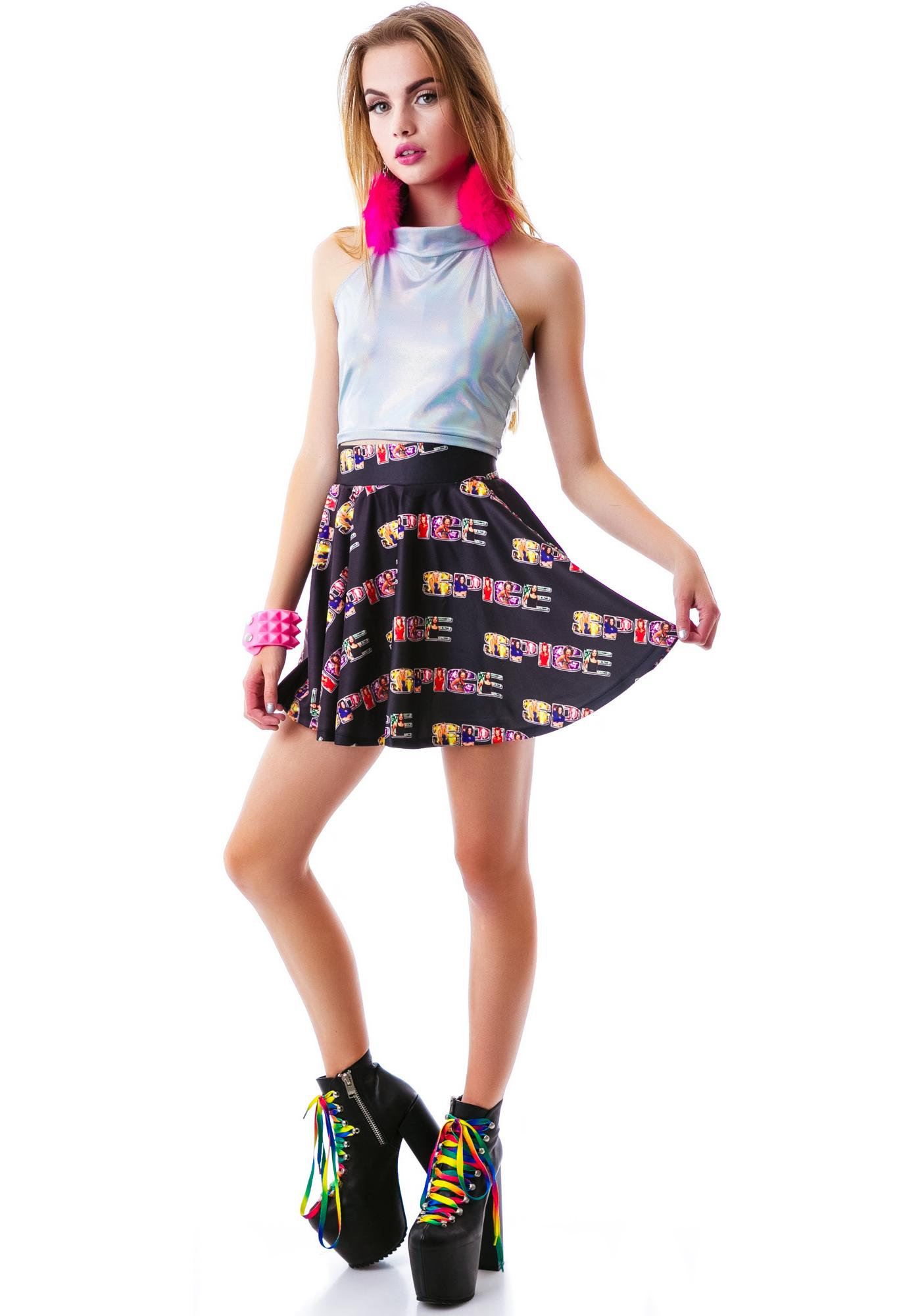 O Mighty Spice World Skater Skirt
