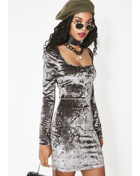 Certified Bae Velvet Dress