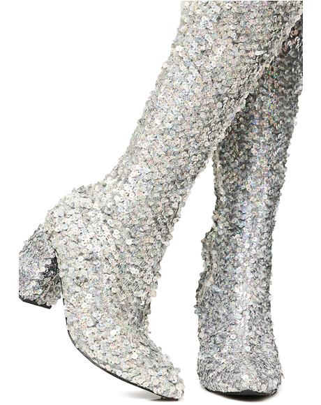 Sparkler Thigh High Boots