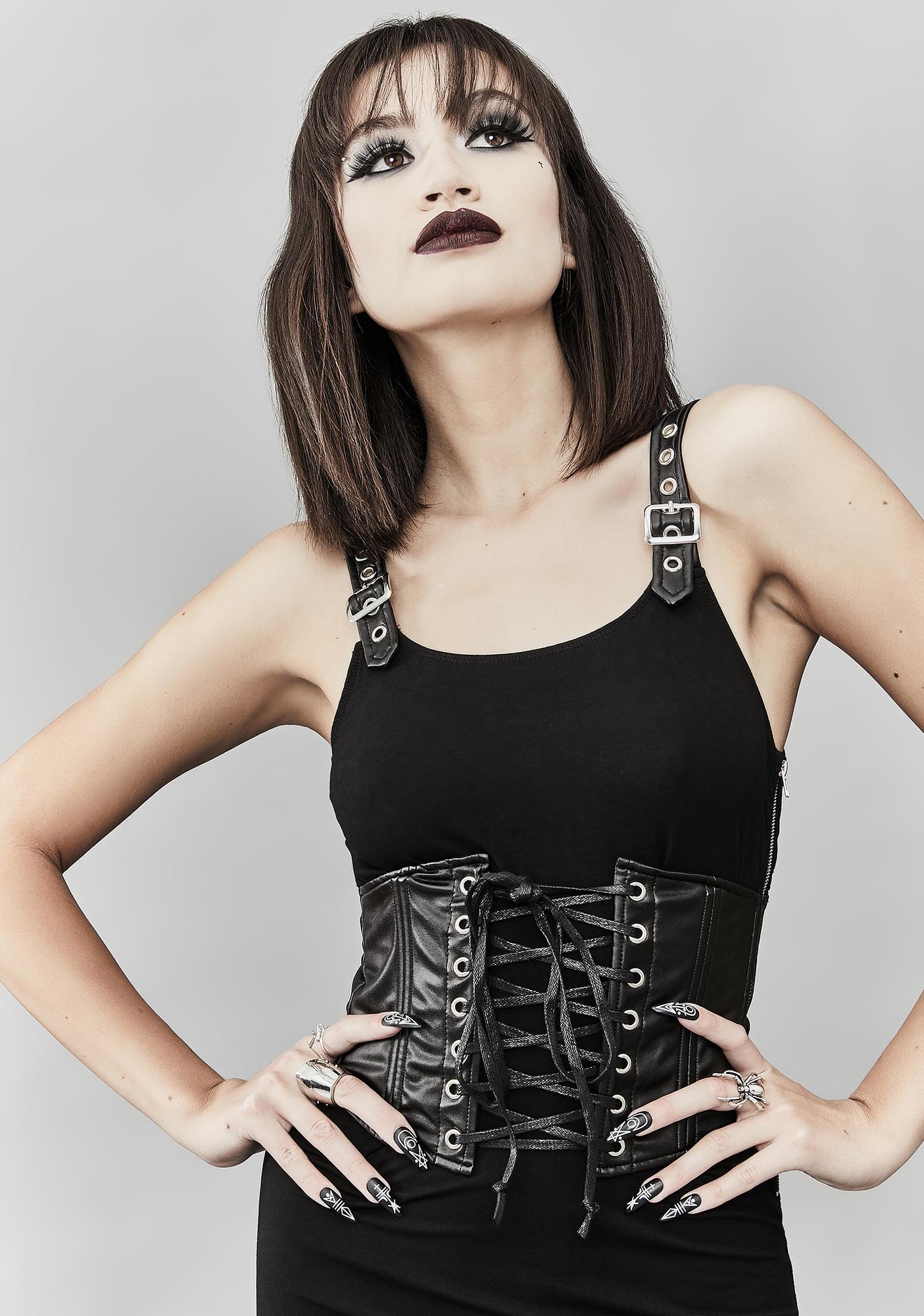 Widow Fresh Hell Corset Dress