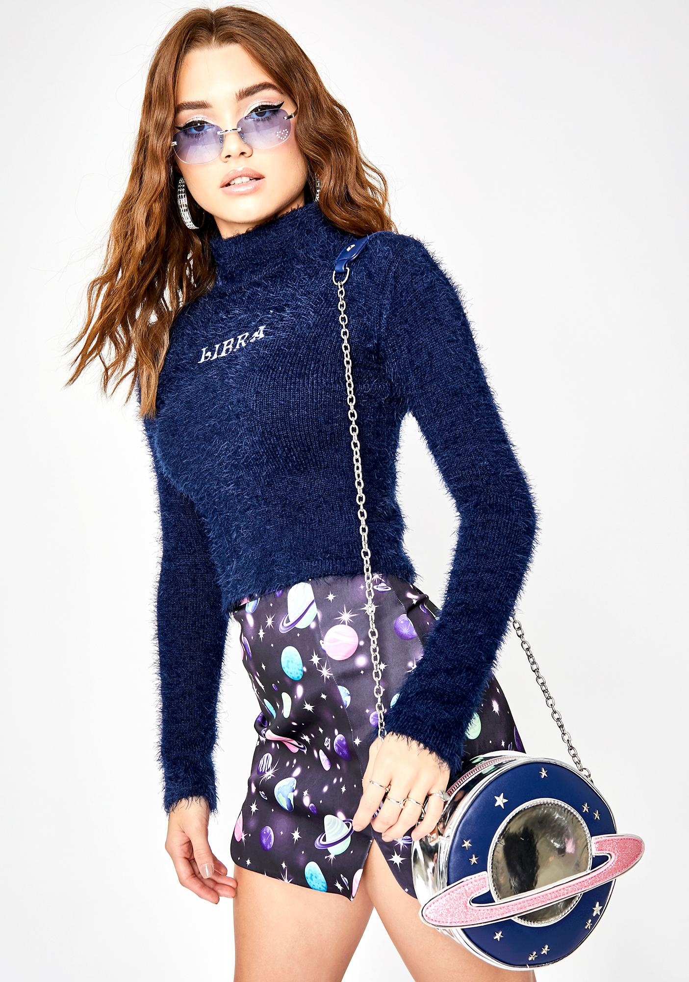 HOROSCOPEZ Loyal Libra Fuzzy Sweater