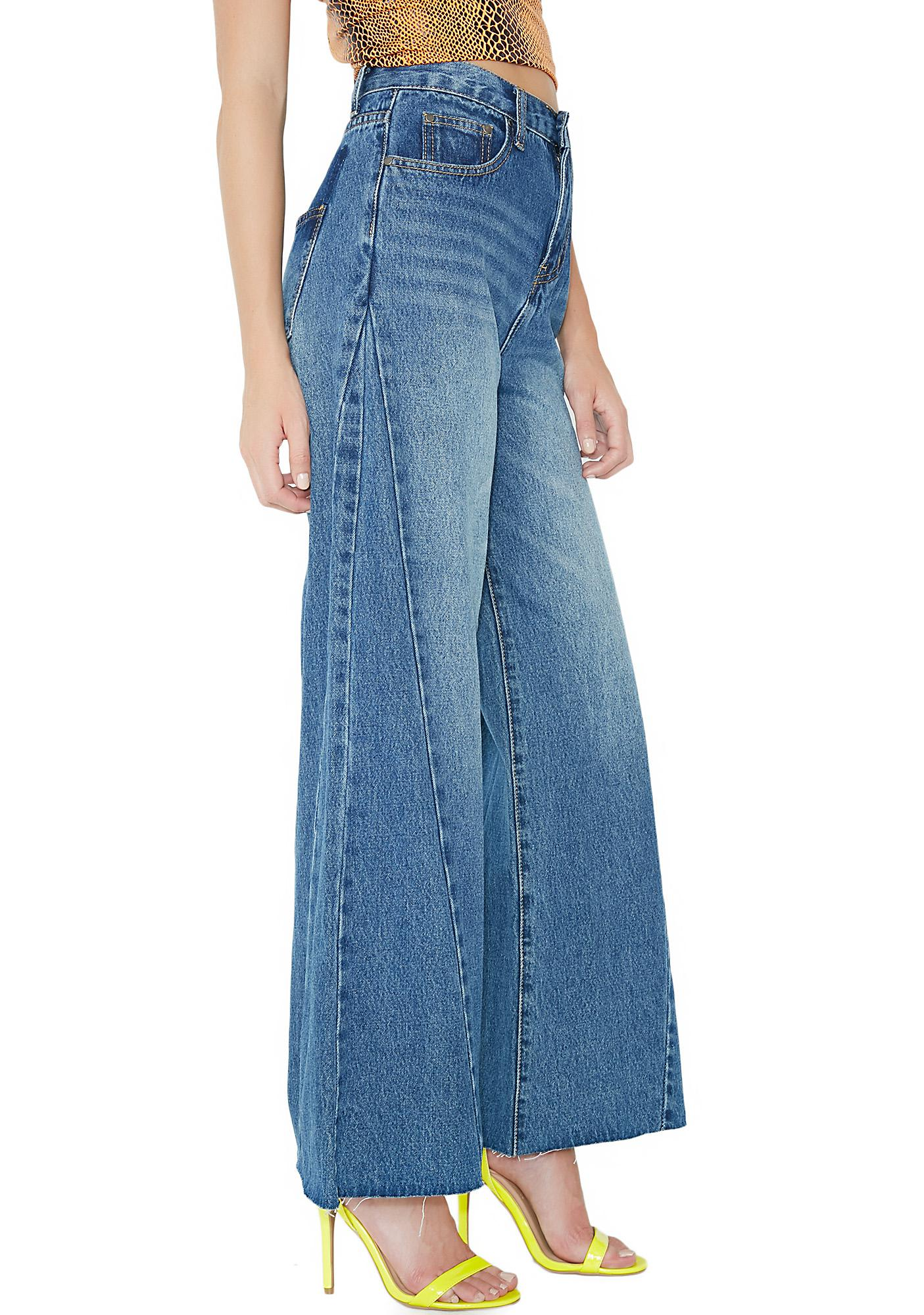 EVIDNT Flare Cropped Jeans