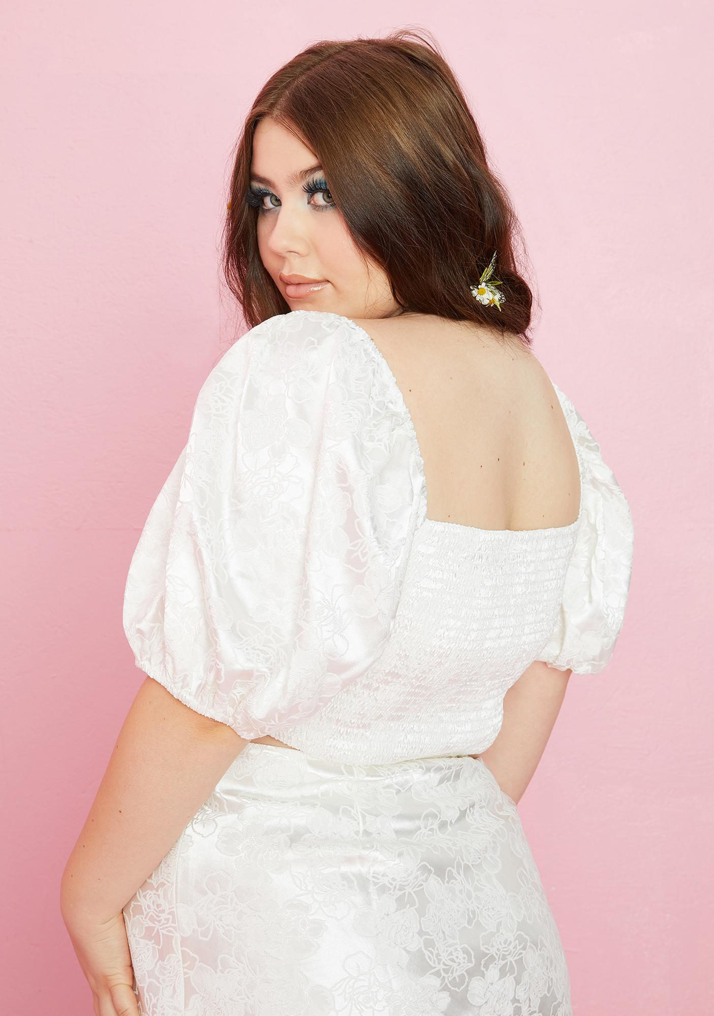 Sugar Thrillz Afternoon Tea For Two Bustier Blouse