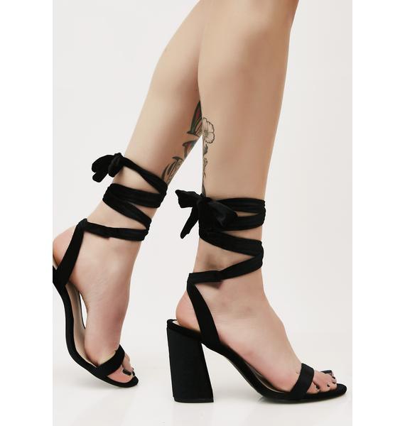 Dark Too Bad 4 U Wrap Heels