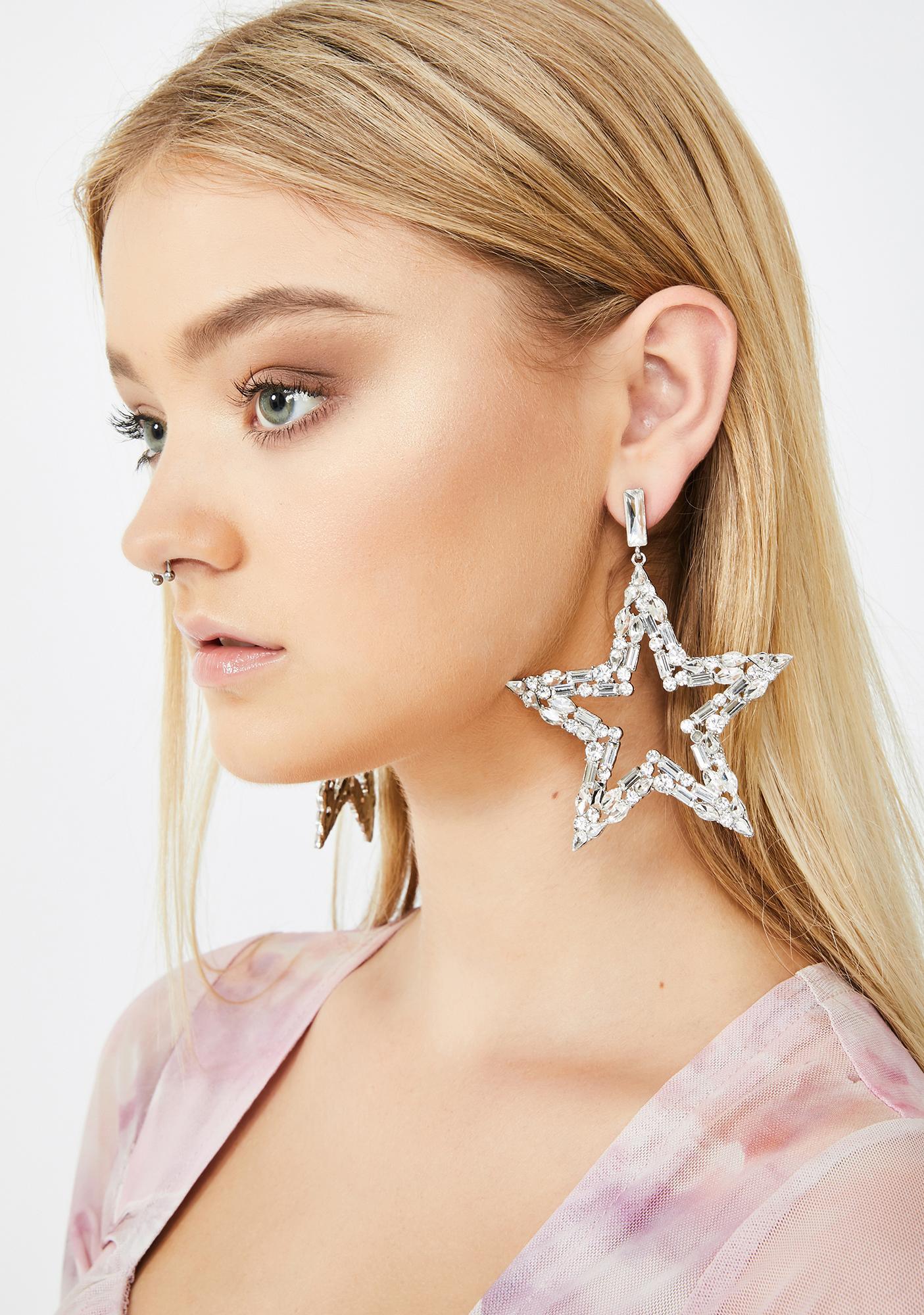 Starstruck Storm Rhinestone Earrings by