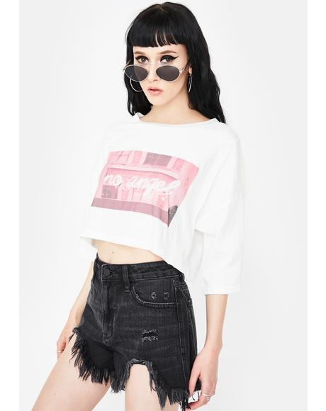 Misbehave Crop Graphic Tee