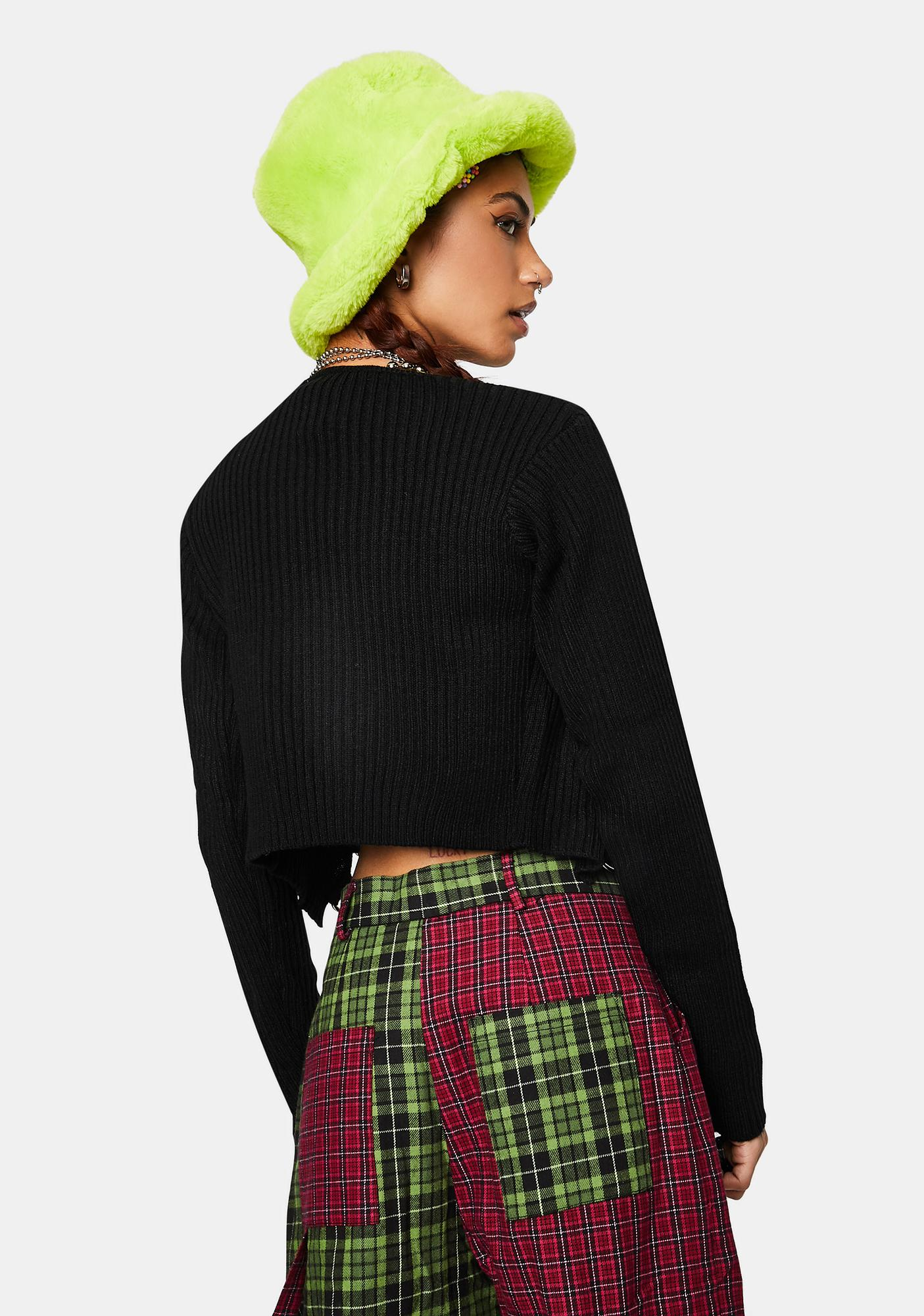 The Ragged Priest Power Ribbed Lace-Up Crop Top