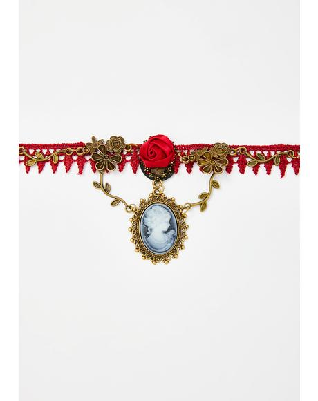 Divine Blood Lace Choker