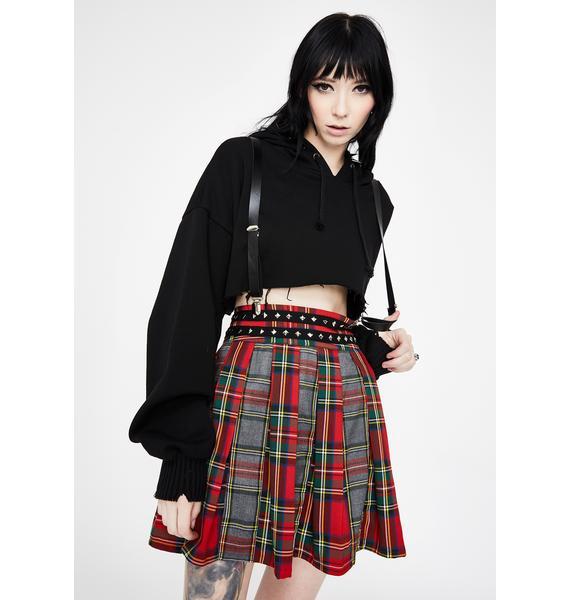 Jawbreaker Pretty Vacant Plaid Suspender Skirt