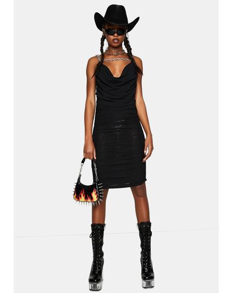Black Chain Mini Dress