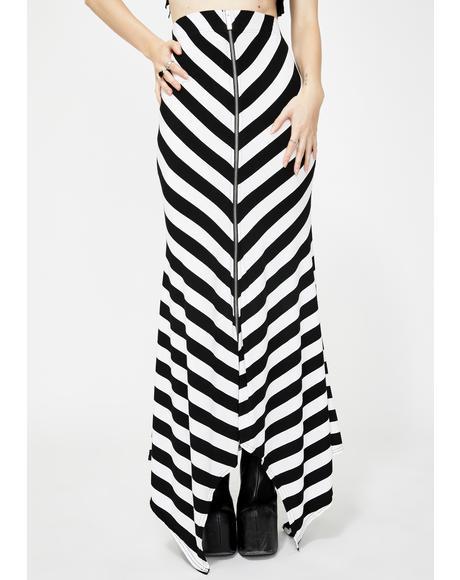 White Aubrey Maxi Skirt