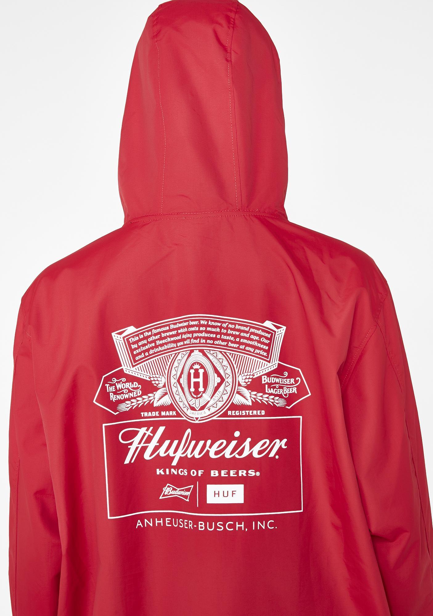 HUF x Budweiser Label Anorak Jacket