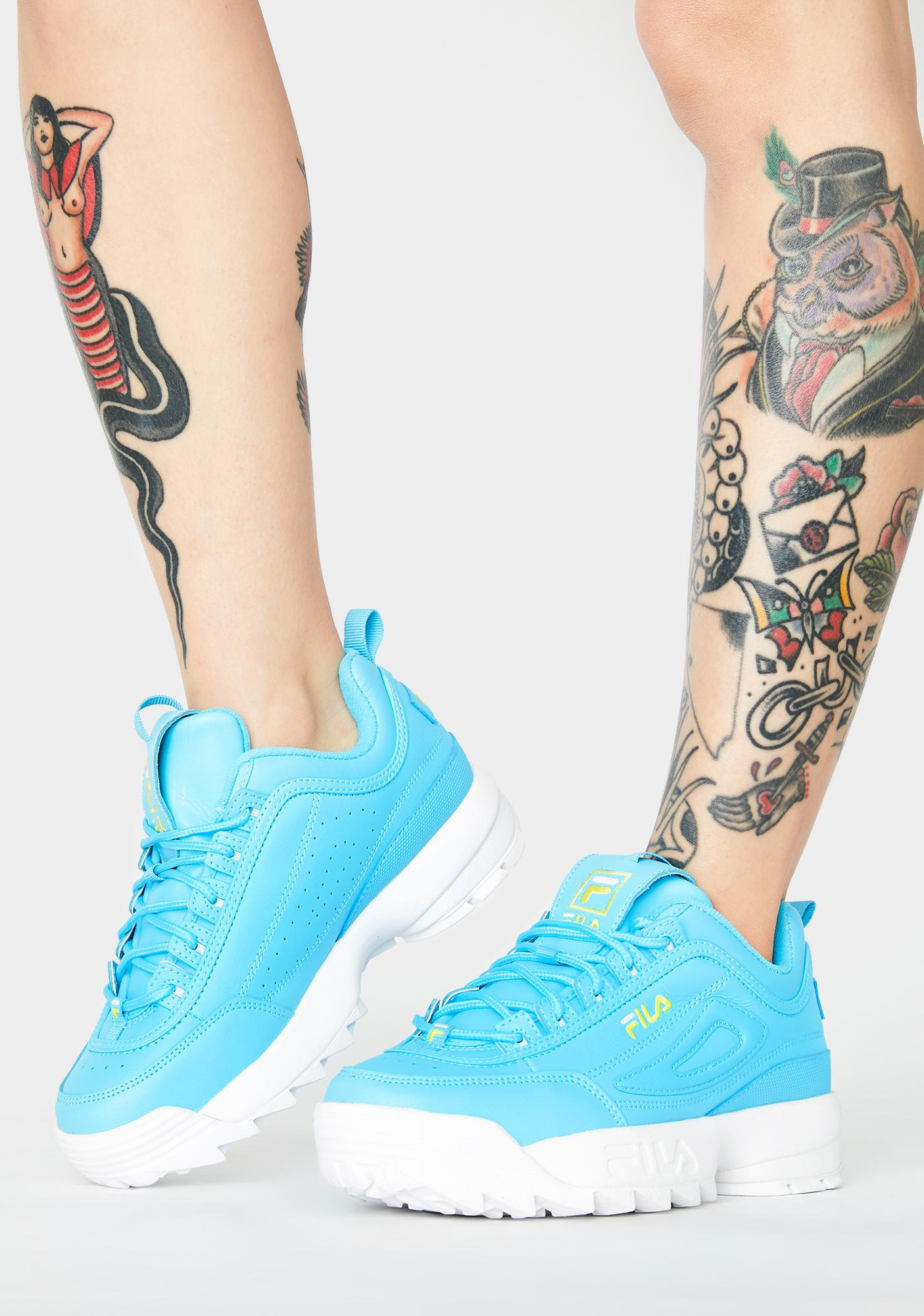 Fila Blue Disruptor II Premium Sneakers