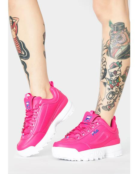 Pink Disruptor II Premium Sneakers