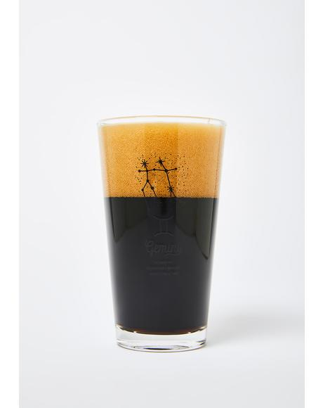 Gemini Star Sign Pint Glass