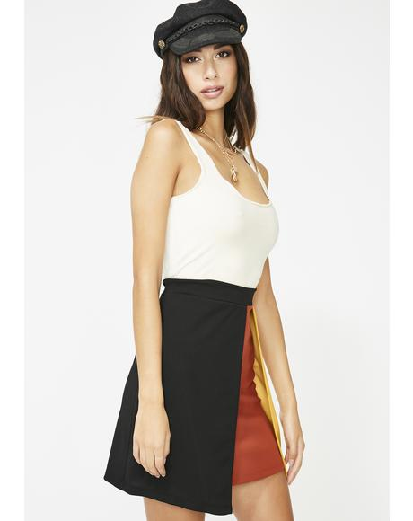 Give You Life Colorblock Skirt