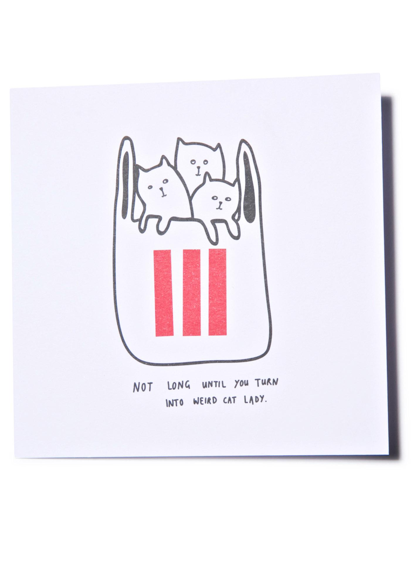 Lazy Oaf Weird Cat Lady Card