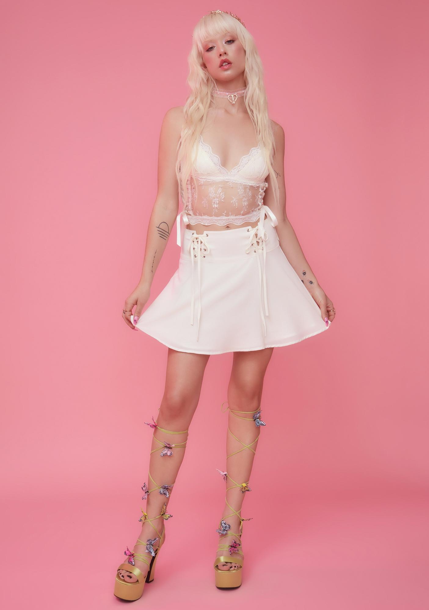Sugar Thrillz First Woman Sheer Lace Crop Top