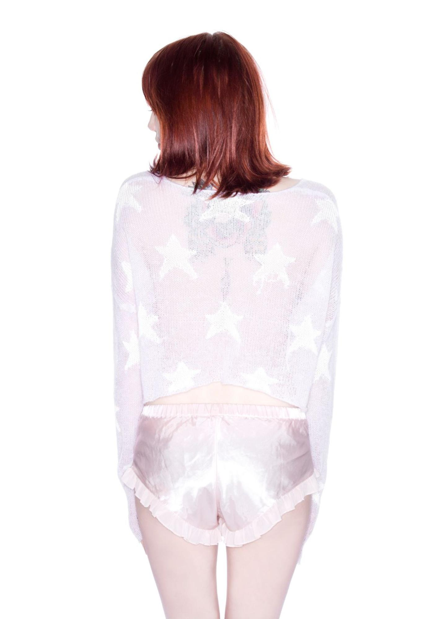 Wildfox Couture Rodeo Star Billy Cropped Sweater
