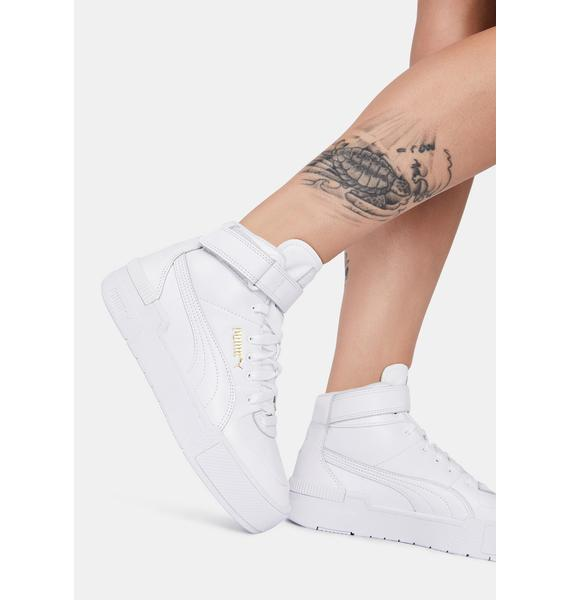 PUMA Cali Sport Warm Up High Top Sneakers