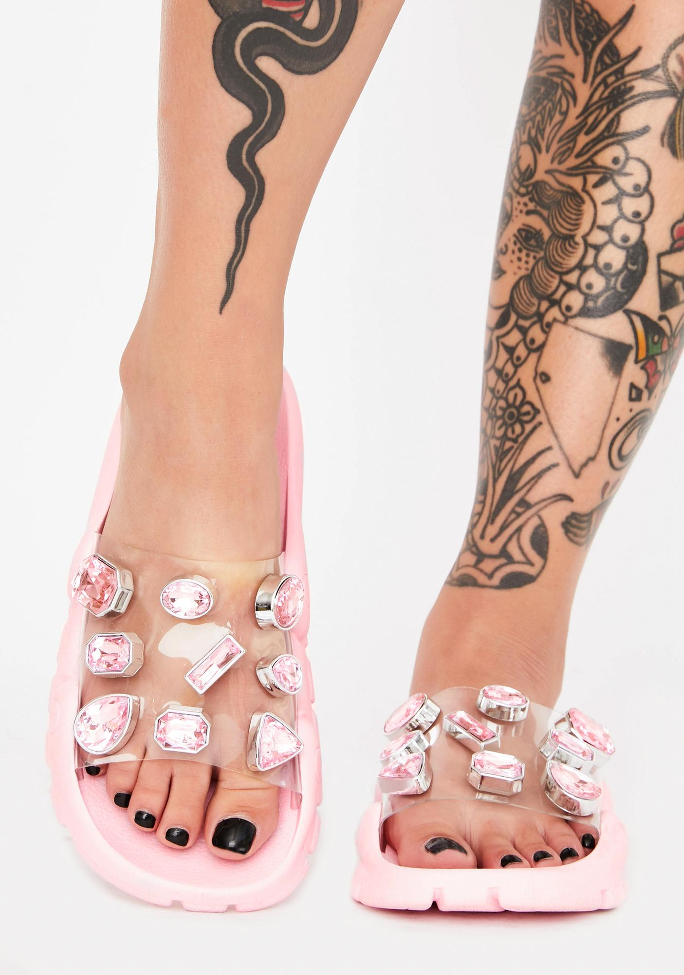 Candy Cosmic Freak Jeweled Slides