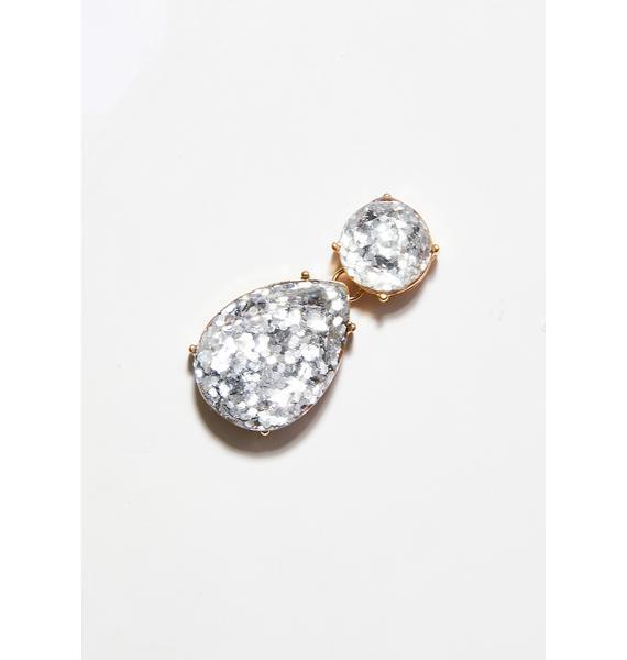 Tears Of Joy Glitter Earrings