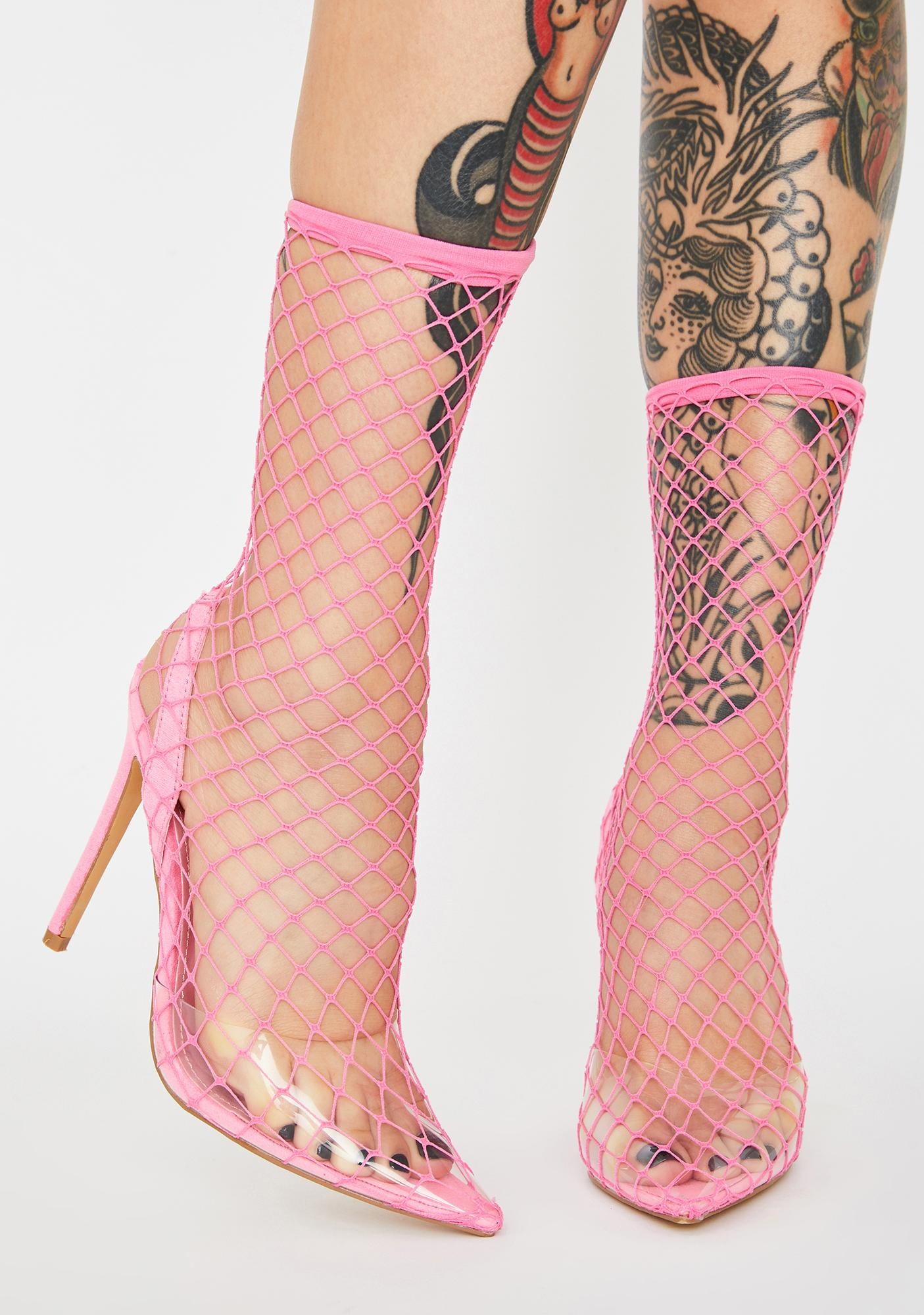 Cupcake The Hott Friend Fishnet Heels