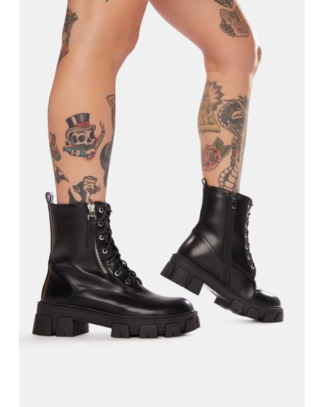 Stomp Lace Up Boots