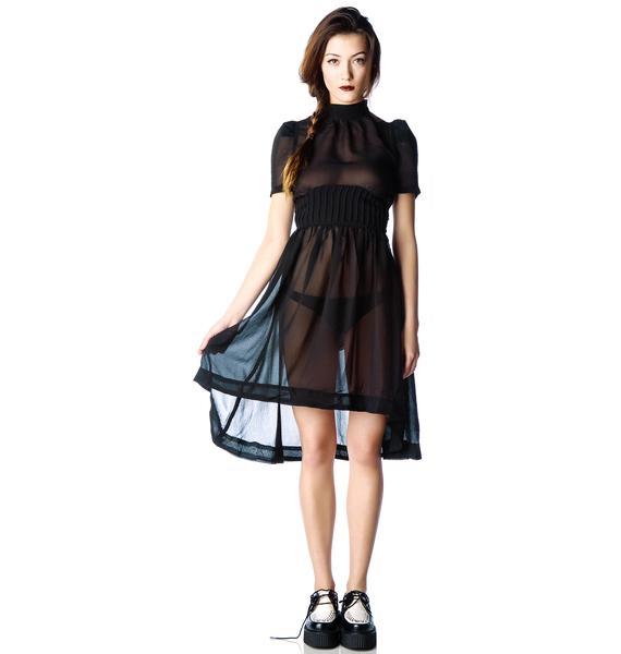 Widow Funeral Society Chiffon Dress
