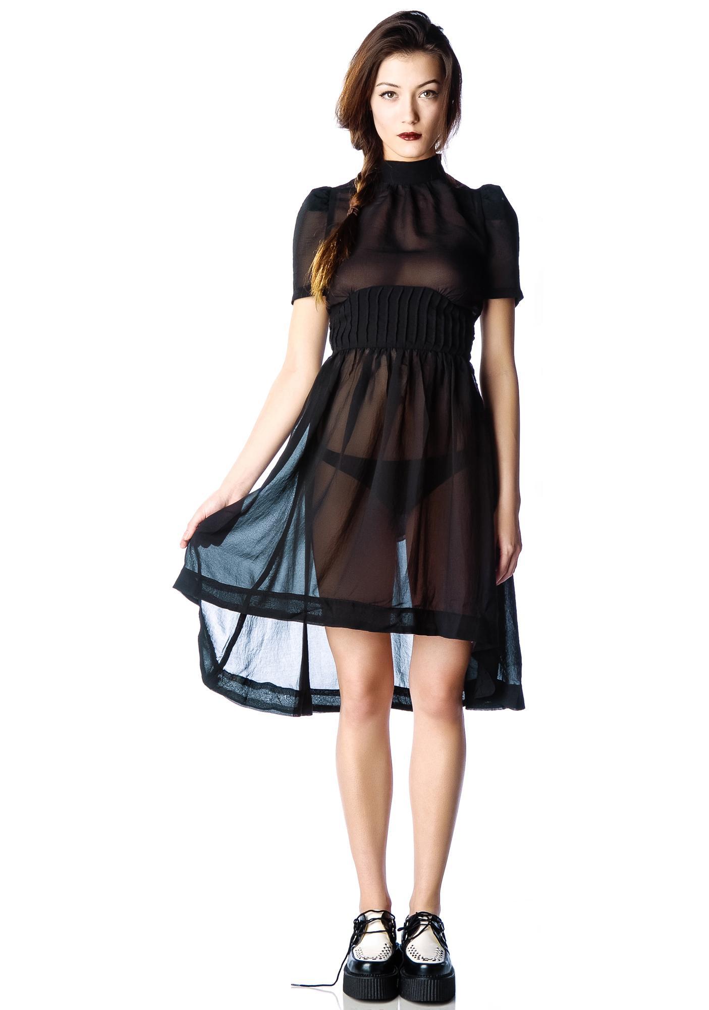 f10d9b18261 Widow Funeral Society Chiffon Dress